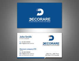 #43 untuk Design a Logo and a Business Card (Decorare) oleh patitbiswas