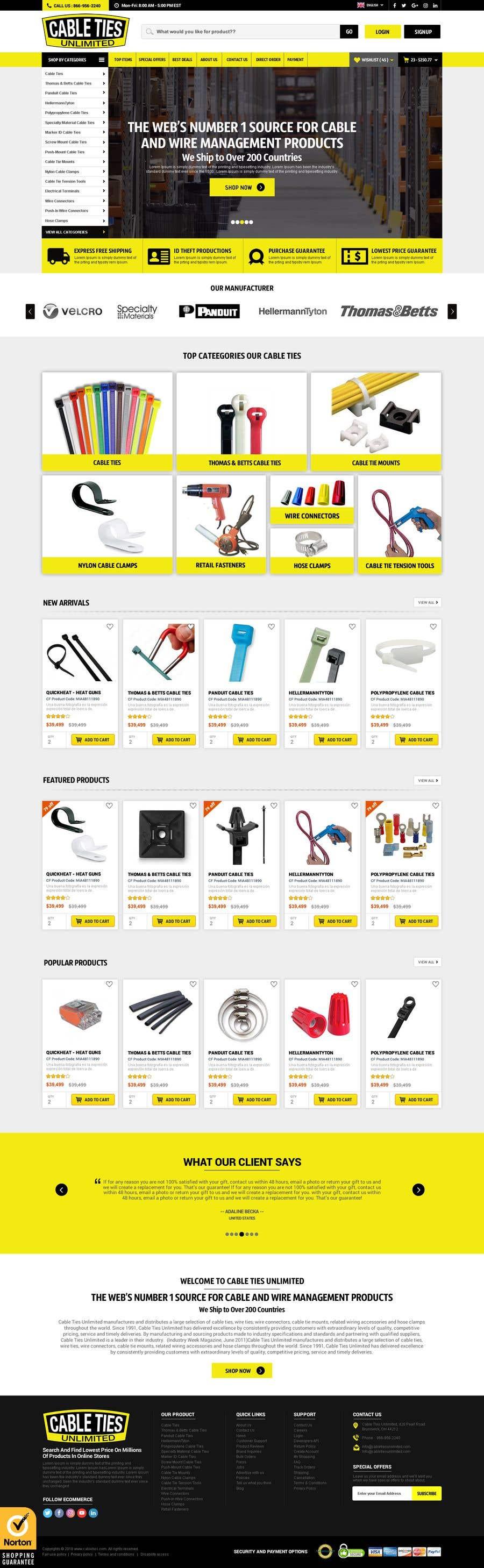 Kilpailutyö #45 kilpailussa Redesign an Ecommerce Website Homepage