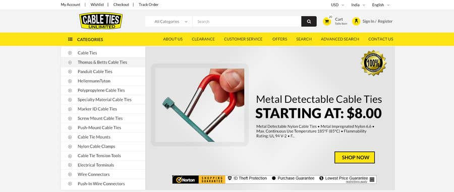 Kilpailutyö #10 kilpailussa Redesign an Ecommerce Website Homepage