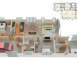 #9 per 3D Render of Floor plan da anto2178