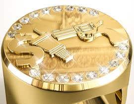 """Číslo 15 pro uživatele Design a mens ring with my logo """"MONEY, PLUG, GUN"""" od uživatele behzadfreelancer"""