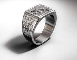 "Nro 22 kilpailuun Design a mens ring with my logo ""MONEY, PLUG, GUN"" käyttäjältä behzadfreelancer"