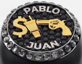 """Nro 17 kilpailuun Design a mens ring with my logo """"MONEY, PLUG, GUN"""" käyttäjältä behzadkhojasteh"""