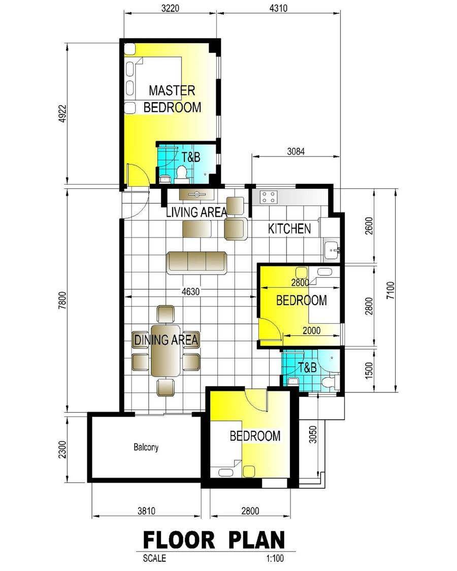Penyertaan Peraduan #26 untuk interior design