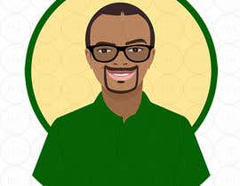 hsandali tarafından Make an animated vector illustration of a black male with green polo shirt. için no 8