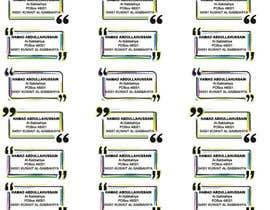 Nro 19 kilpailuun Excel to Sticker for postage käyttäjältä sonupandit