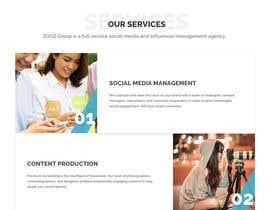Nro 46 kilpailuun Website Design for Social Media Agency käyttäjältä AustralDesign