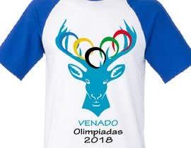 "nº 22 pour A logo for a t-shirt with the outline of a deer face and that says ""Venado Olimpiadas 2018"" par letindorko2"