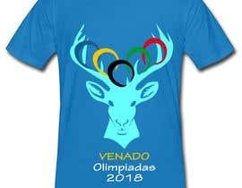"nº 23 pour A logo for a t-shirt with the outline of a deer face and that says ""Venado Olimpiadas 2018"" par letindorko2"