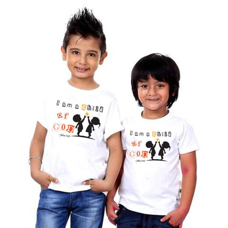 "Penyertaan Peraduan #17 untuk ""I am a Child of God - John 1:12"" - Tshirt Design for Baby, Toddlers, Little Boy and Little Girl"