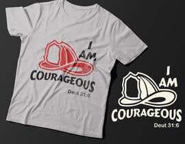 "#67 para ""I am Courageous. Deut 31:6"" - BOYS Tshirt Design por Exer1976"