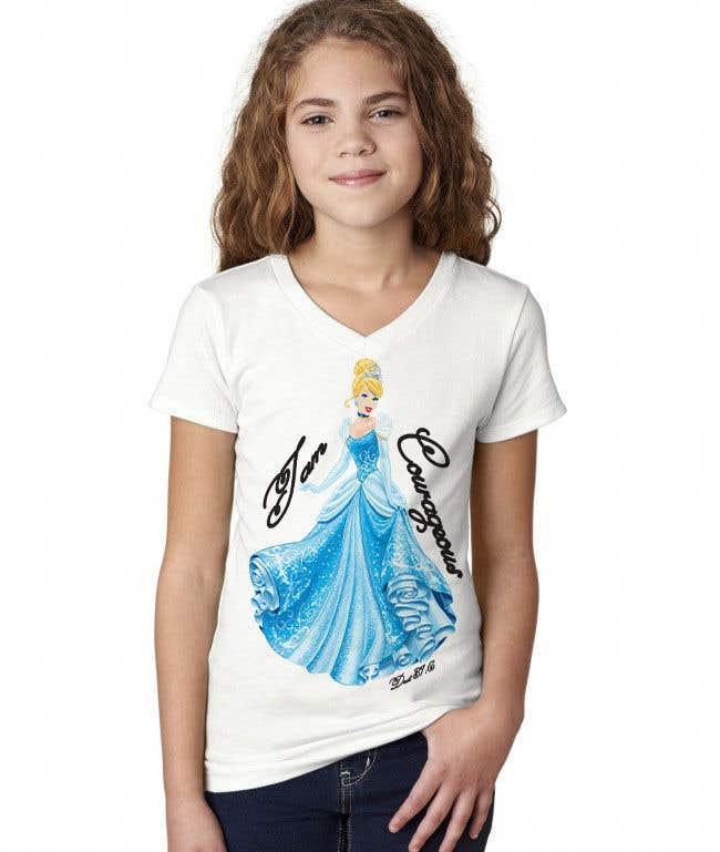 "Konkurrenceindlæg #11 for ""I am Courageous. Deut 31:6"" - GIRLS Tshirt Design"