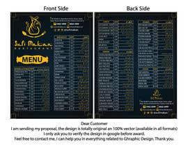 #39 para Menu for a restaurant por owakkas