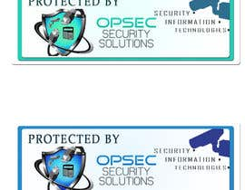 "ingpedrodiaz tarafından Design a ""protected by"" sign for out security company için no 12"