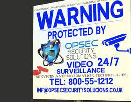 "ingpedrodiaz tarafından Design a ""protected by"" sign for out security company için no 20"