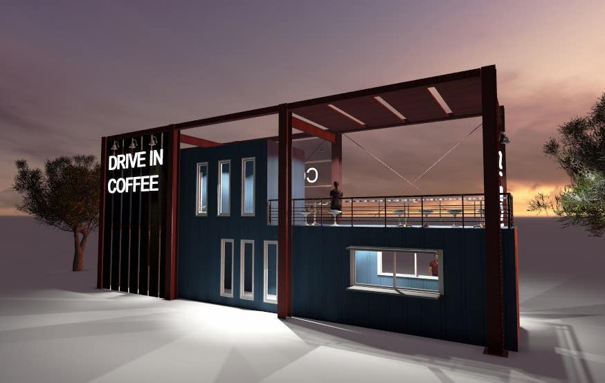 Exceptional Entry #14 By Yangjinhyun For Exterior Design For A Drive Thru Coffee Shop  Building | Freelancer