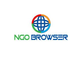 "#22 для The logo is for the company: ""NGO Browser"" it offers browser solutions for charity (non governmental organizations) as it also applies in browser extensions it should be round-see other browser logos like: Firefox, Internet Explorer, Chrome. Good luck! от sajidexpert"