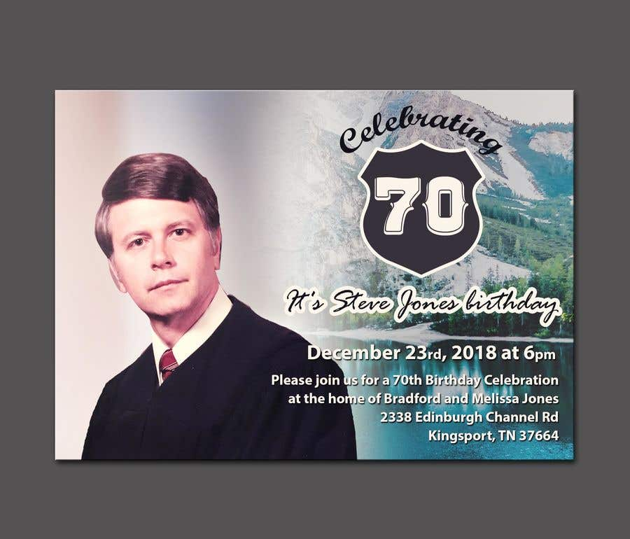 Contest Entry 60 For 70th Birthday Invite