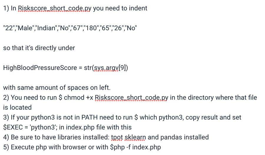 Entry #3 by dachinat for Run Python code into the php code