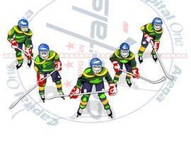 #14 for Draw hockey player illustration by letindorko2