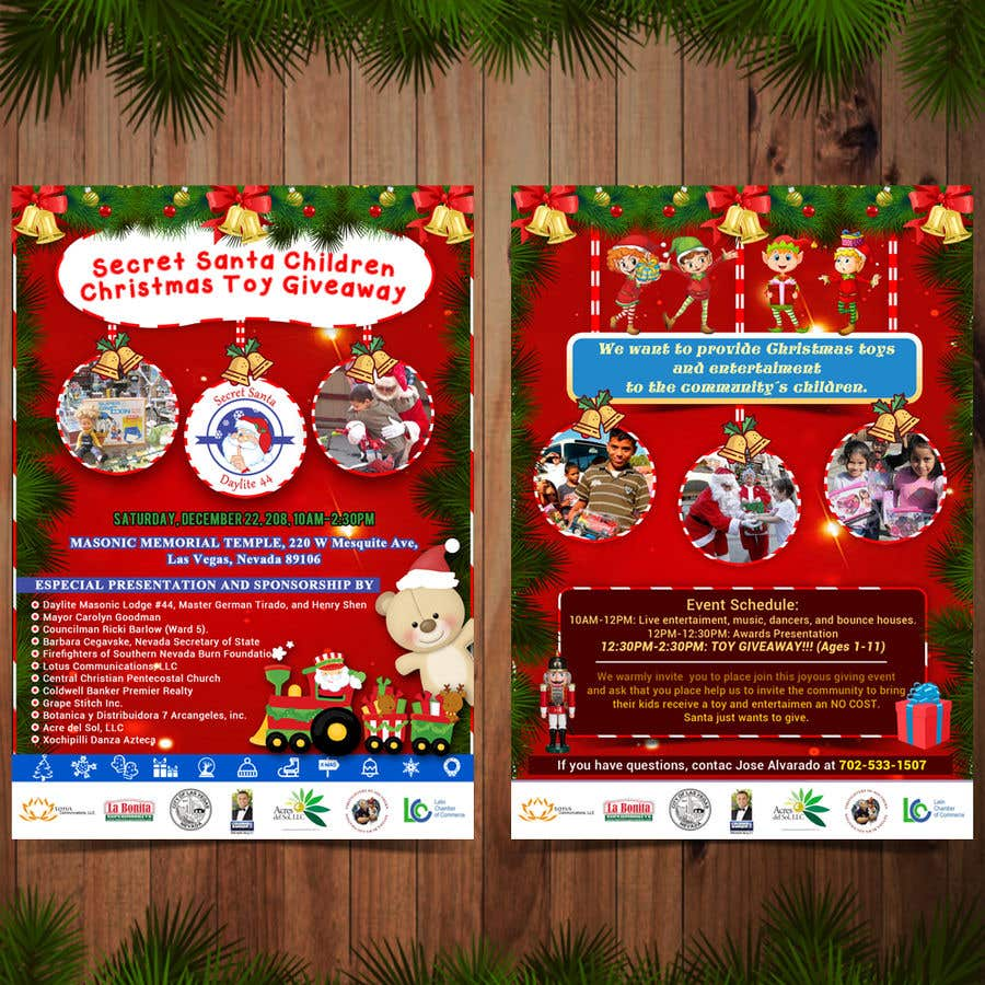 Christmas Contest Flyer.Entry 33 By Armandopantoja For Design Flyer For Christmas