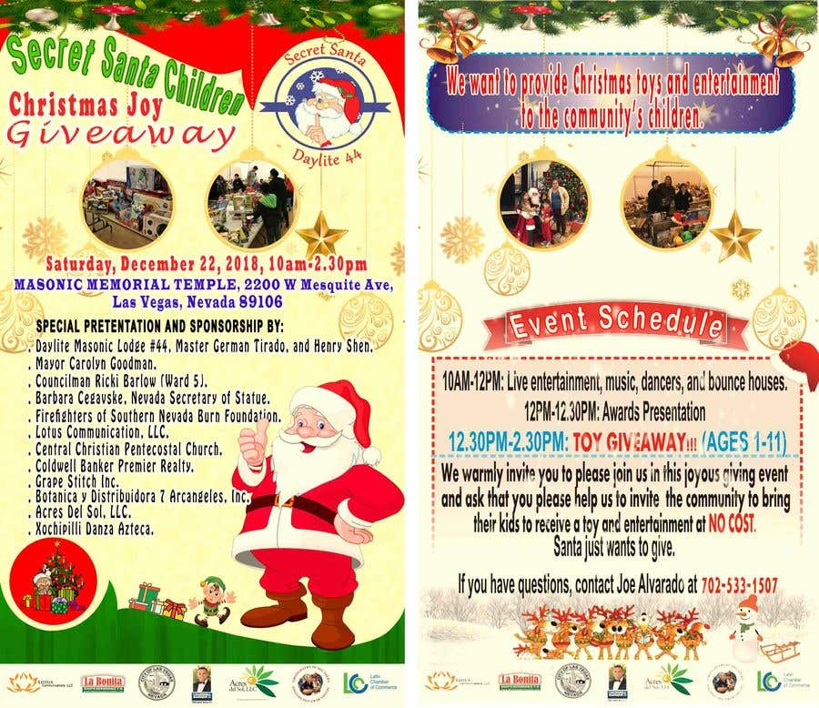 Christmas Giveaway Flyer.Entry 22 By Maradonavinna For Design Flyer For Christmas