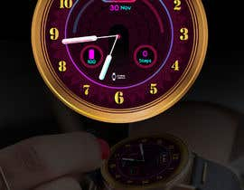 #25 cho Create watch face design for smartwatches - circular, analogue, lifelike and feminine. bởi gamalds1