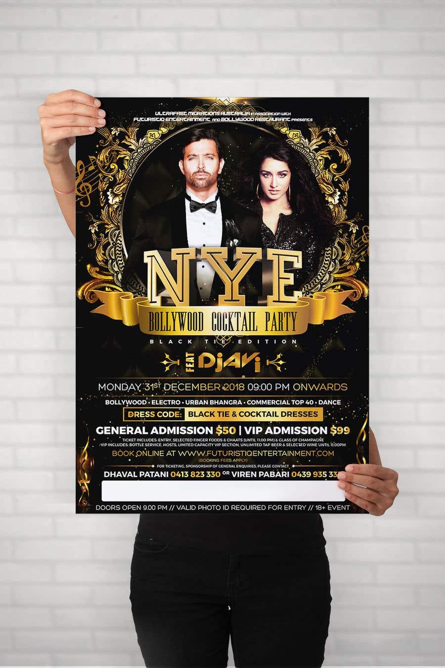 Kilpailutyö #49 kilpailussa NYE Bollywood Cocktail Party (Black Tie Edition)