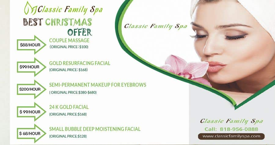Entry 60 By Nayemmia0929 For Design A Christmas Seasonal Promotional Banner Ad For A Spa Freelancer