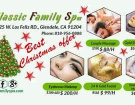 #48 para Design a Christmas seasonal promotional banner ad for a spa por shopna83
