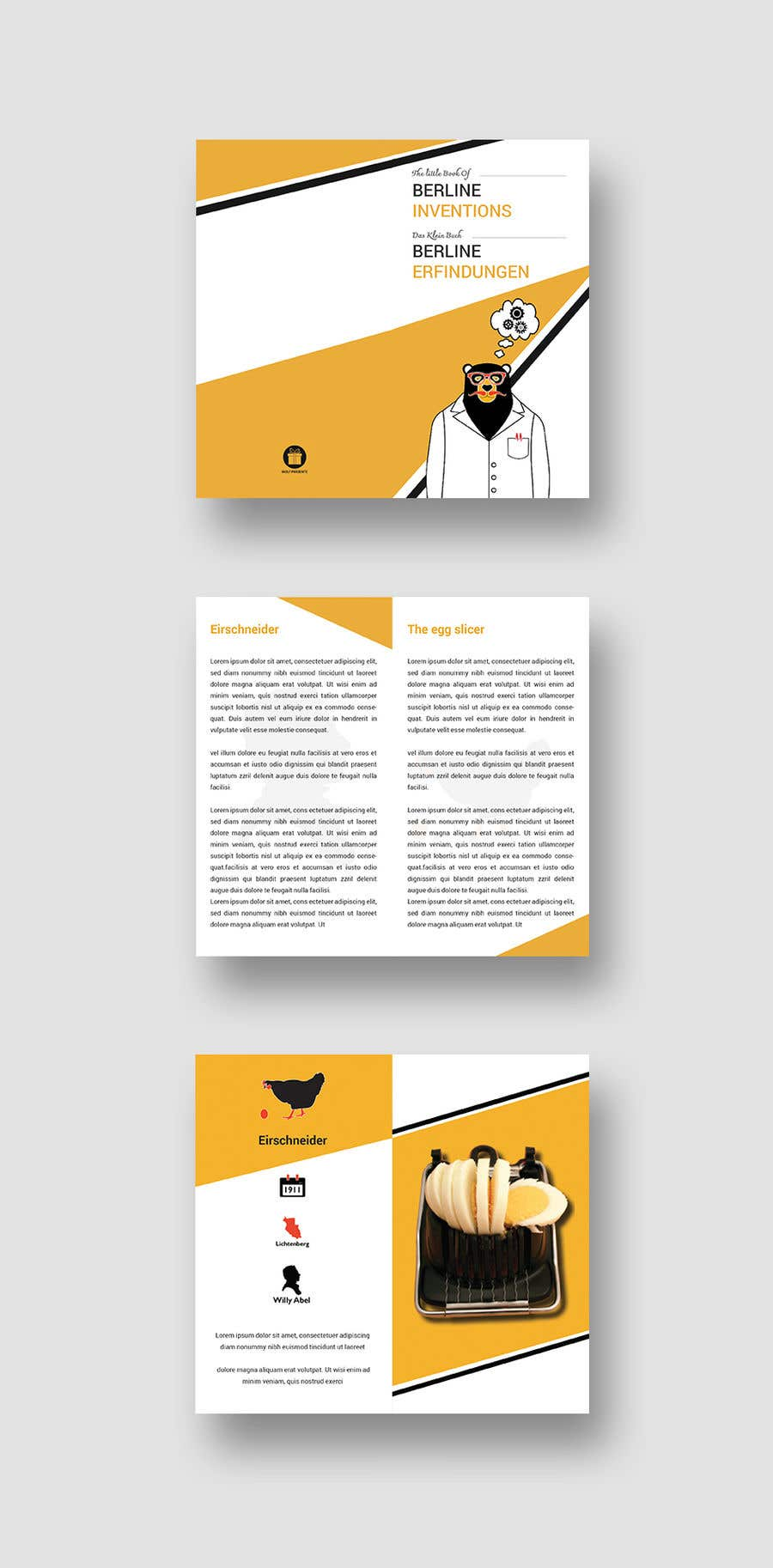 Contest Entry #11 for re Design of a booklet about inventions from the city of Berlin