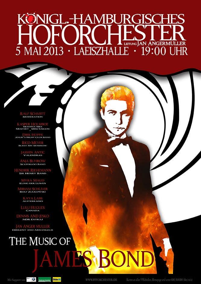 Konkurrenceindlæg #                                        97                                      for                                         James Bond Poster Design for Orchestra Concert