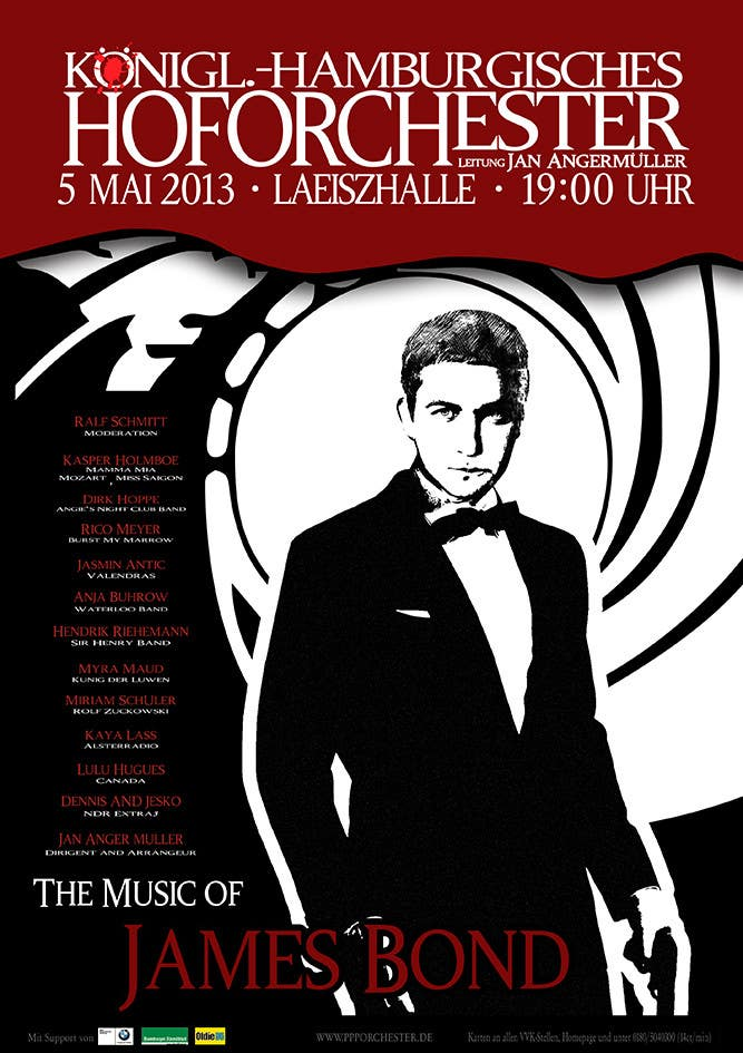 Konkurrenceindlæg #                                        98                                      for                                         James Bond Poster Design for Orchestra Concert