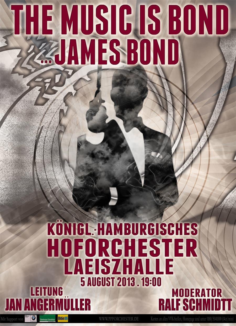 Konkurrenceindlæg #                                        57                                      for                                         James Bond Poster Design for Orchestra Concert
