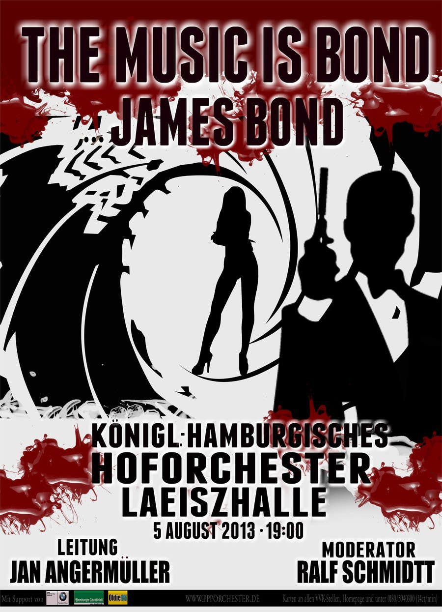 Konkurrenceindlæg #                                        62                                      for                                         James Bond Poster Design for Orchestra Concert