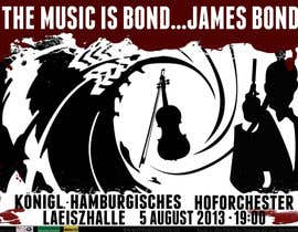 #171 for James Bond Poster Design for Orchestra Concert by lolish22