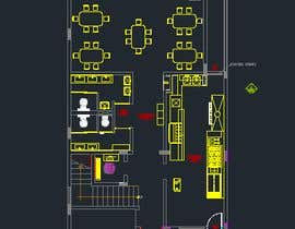 nº 14 pour To design interior interior furniture and equipments layout for a restaurant par jhosser