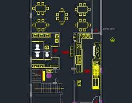 #14 untuk To design interior interior furniture and equipments layout for a restaurant oleh jhosser