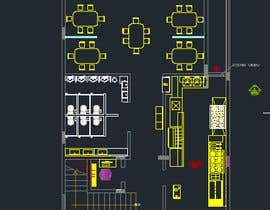 nº 15 pour To design interior interior furniture and equipments layout for a restaurant par jhosser