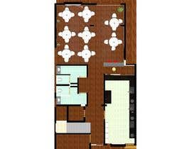 nº 24 pour To design interior interior furniture and equipments layout for a restaurant par TMKennedy