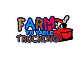 """#1 untuk Logo for """"Farm to Table Trucking"""" to be displayed on a truck and on emails to Chefs oleh gsamsuns045"""