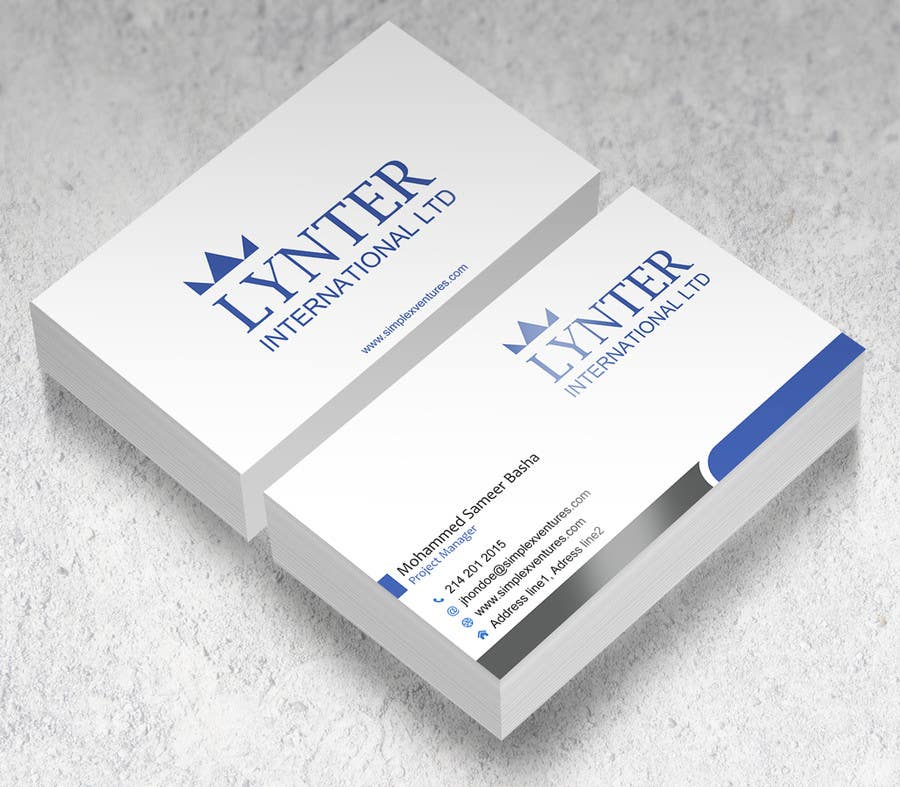 Entry #43 by gohardecent for Design some Business Cards for Lynter ...