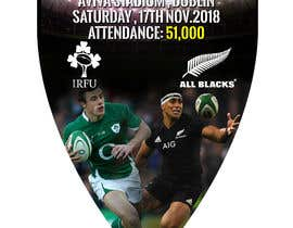 #17 для IRE vs NZ rugby competition poster от naveen14198600
