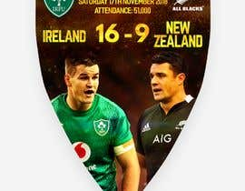 #59 для IRE vs NZ rugby competition poster от joengn