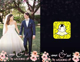 #12 для Design a Snapchat filter for a wedding (Contest #1) от ShadiHesham