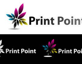#258 para Logo Design for Print Point de bookwormartist