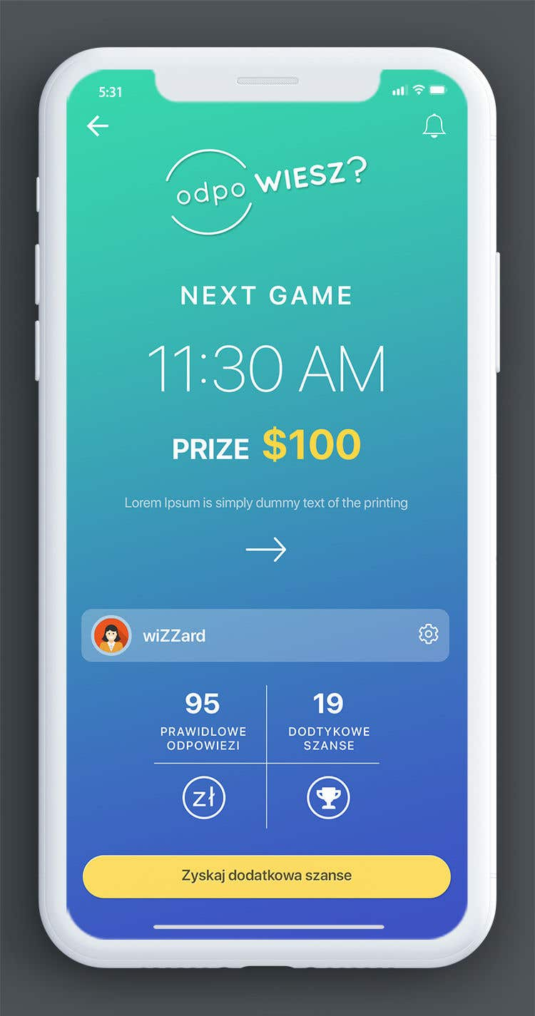 Proposition n°13 du concours Redesign App Dashboard
