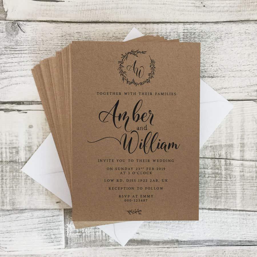 Kilpailutyö #39 kilpailussa Design a rustic wedding invite template