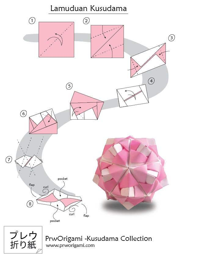Entry #20 by NiloyyMahmudd for Illustrate origami ... on