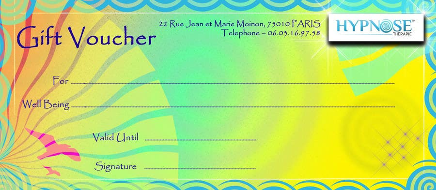 #12 for Design of GIFT VOUCHERS : for HYPNOSIS by tedatkinson123